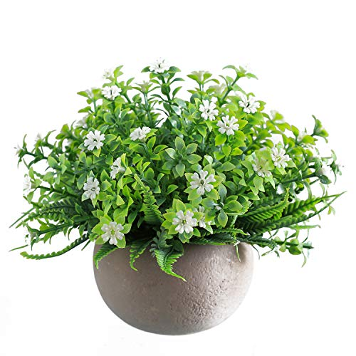 Fake Flowers with Pot Artificial Plants Flowers Potted for Table Floating Shlef Bathroom Farmhouse Decor …