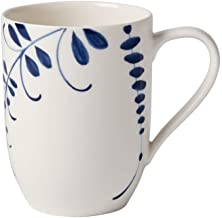 Villeroy & Boch Old Luxembourg Brindille Coffee Mug, Crockery Porcelain, Blue and White, 370 ml