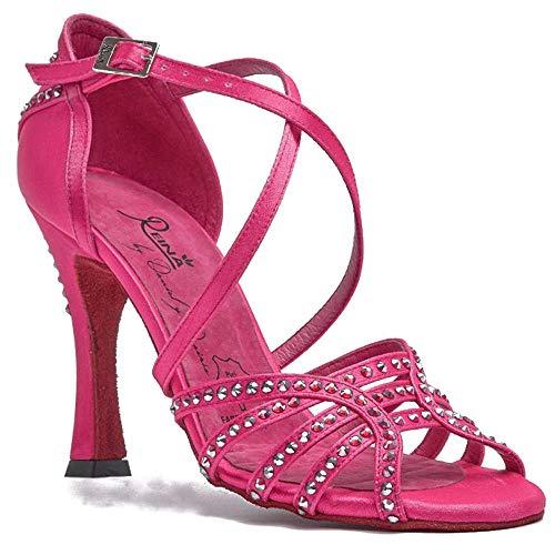 Manuel Reina - Zapatos de Baile Latino Mujer Salsa Competition 02 Fuxia - Bailar Bachata, Salsa, Kizomba (40 EU, Tacón: 7.5)