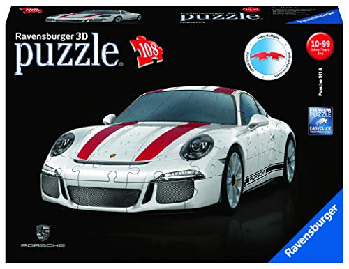 Ravensburger 12528 911 108 Piece 3D Jigsaw Puzzle for Kids Age 8 Years and up. Ideal Porsche Gifts