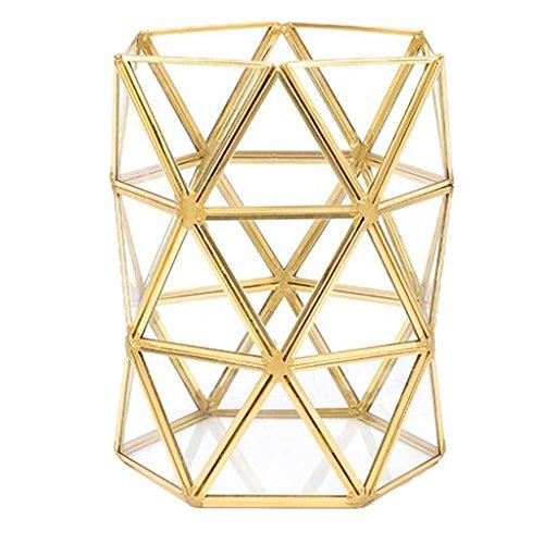 LOVIVER Make Up Pinsel Halter Glasvase Vanity Aufbewahrungsbox Desktop Dekoration