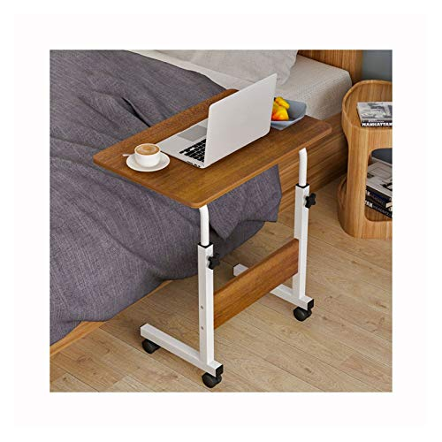 ALBBMY Laptoptisch Mit Rollen Laptop Laptoptisch Stand Kleiner Beistelltisch Mit Rollen Höhenverstellbar (Color : 60 * 40 wild Oak A)