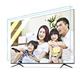 JHZDX Hanging Anti-Blue Tv Screen Protective Film, Explosion-Proof Anti-Smashing Isolation Board Can Block Harmful Blue Light and Reduce Eye Fatigue, Suitable for Flat Curved Screens,42'(929 521)