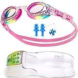 ZABERT K5 Mädchen Kinder Schwimmbrille Schwimmbrillen Taucherbrille Kinderschwimmbrille Chlorbrille für Kinder Kind Junior Jungen 3 4 5 6 7 8 9 10 11 12 Jahre Pink Rosa