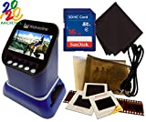 Wolverine F2D Saturn Digital Film & Slide Scanner - Converts 120 Medium Format, 127 Film, Microfiche, 35mm Negatives & Slides to Digital - 4.3' LCD, 16GB SD Card, Z-Cloth & HDMI Cable Included (Blue)