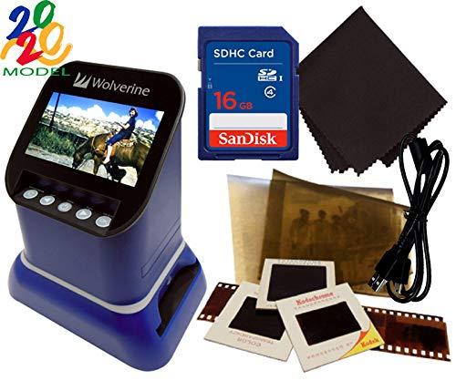 Wolverine F2D Saturn Digital Film & Slide Scanner - Converts 120 Medium Format, 127 Film, Microfiche, 35mm Negatives & Slides to Digital - 4.3