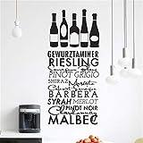 stickers muraux enfants arbre Bouteilles de vin & liste gewurztaminer riesling