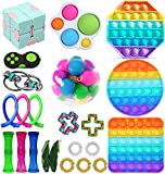 Fidget Toys Pack, Sensory Fidget Toys Cheap, Fidget Toy Set Figetgets-Toys Pack Fidget Box, Fidget Pack with Simples-Dimples in It, Gifts for Kids&Adults with Autism (Fidget Packs)