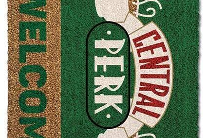 Versa Door Mat Felpudo Friends Central Perk Welcome, Felpa, Multicolor, 40 x 60 cm