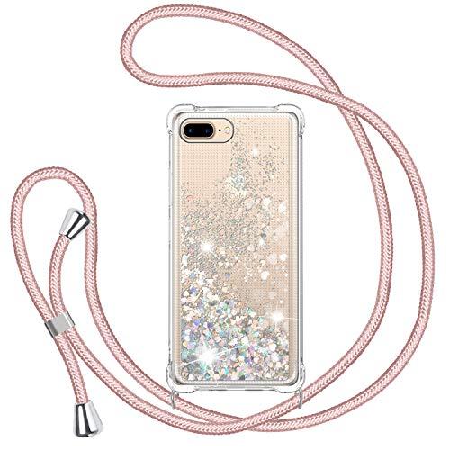 Funda Glitter Liquida con Cuerda para iPhone 7 Plus/ iPhone 8 Plus,...
