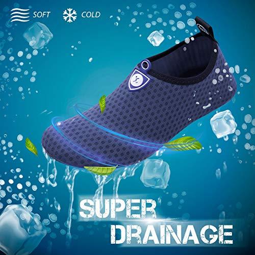 SIMARI Water Sports Shoes Unisex Barefoot Aqua Socks Slip-on Indoor Outdoor Activities SWS001 Circular Blue