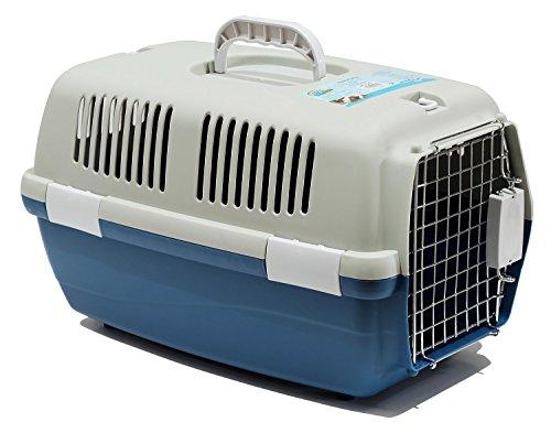 BPS (R) Transportín Rígido para Perro o Gato, Animales Domésticos, Tamaño: 55 x 35 x 32 cm (Azul)