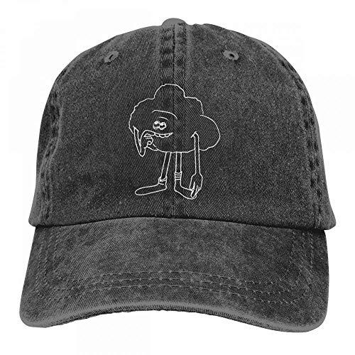Falso cálido cálido Cómo Dibujar a Cloud Guy de Trolls Step Algodón Ajustable Gorra de béisbol teñida con Pico Sombrero de Vaquero Lavado para Adultos