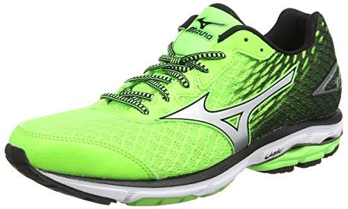Mizuno Wave Rider 19, Zapatillas de running para hombre, verde (twilight blue/silver/green gecko), 40 EU