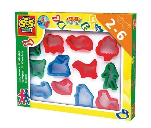 SES Creative Children's Super Clay Cutters Set, 12-Pack by