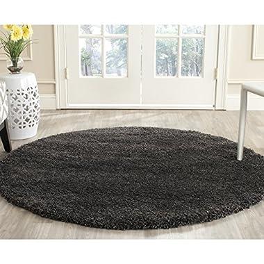 Safavieh Milan Shag Collection SG180-8484 Dark Grey Round Area Rug (10' Diameter)