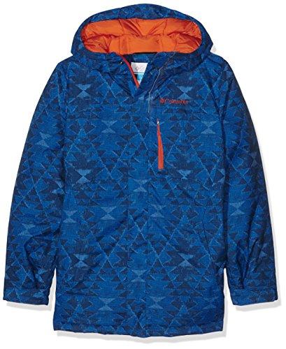 Columbia Alpine Free Fall Jacket Blouson de Ski Garçon, Super Blue Print, FR (Taille Fabricant : XL)
