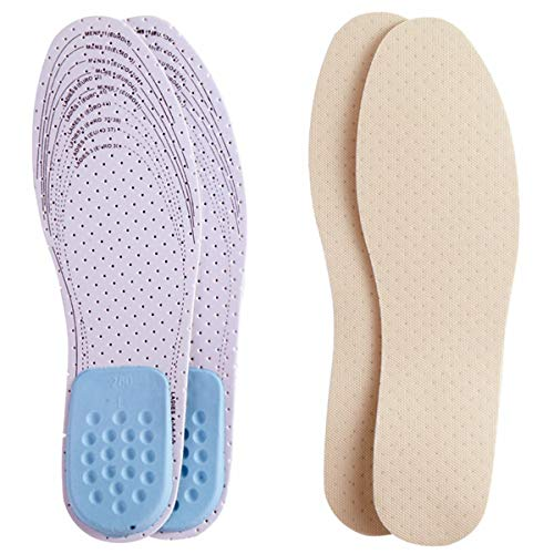 Amitataha 2 Pairs Air-pillo Insoles Super-Soft and Breathable Shoe Inserts and Stopping Sweaty with Two Layers of Foam That Fit in Any Shoes (One Size for Both Men's 7-13 & Women's 5-10)