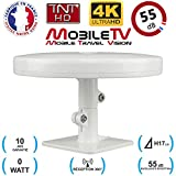 Antenne TV TNT HD 4K Omnidirectionnelle 55dB camping car / caravane / camion / fourgon / bateau / poids lourd...