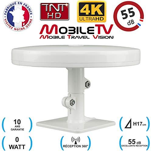 Antenne TV TNT HD 4K Omnidirectionnelle 55dB camping car   caravane   camion   fourgon   bateau   poids lourd - Omni PRO PLUS MobileTV - Garantie 10 Ans