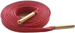 Lacets pour Cordes Robe Bottes Coton Ciré Lacets Plat avec Métal Or Coton Lacet