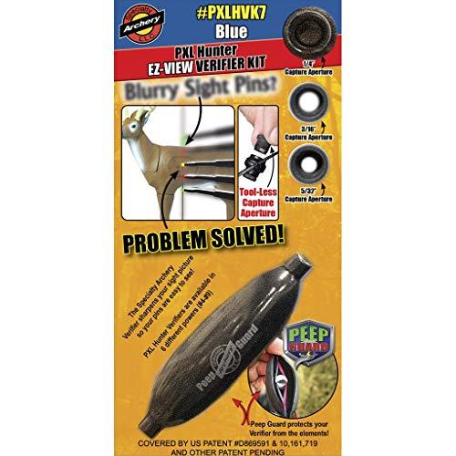 Specialty Archery - PXL Hunter - EZ-View - Verifier Kit - w/ #7 Verifier and Peep Guard - Blue