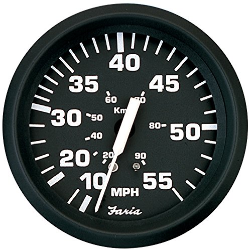 Best Price Faria Euro Black 4 Speedometer - 55MPH (Mechanical)