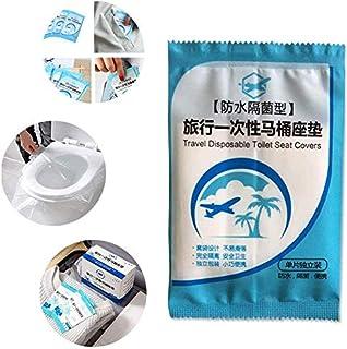 Tang Yuan 50 Pezzi Tappetino per WC monouso,WC per WC monouso,Misura Universale,Adatto per ospedali,stazioni,Hotel,bagni pubblici,Antibatterico,Impermeabile,imballaggio da Viaggio