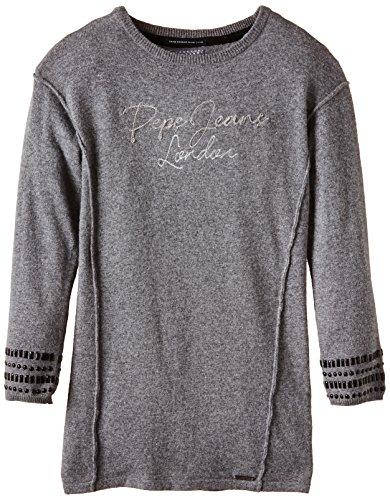 Pepe Jeans SAIRA-Vestido Niñas, Gris (Grey Marl) 14 años (Talla fabricante: 14)