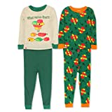 LEGO Duplo Chicken Toddler Boys 2fer 4 Piece Long Sleeve Cotton Pajamas Set (4T, Green)