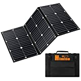 LiZHi 60 Watt Foldable Solar Panel Battery Charger Kit, 24v Solar Charger for Portable Generator Power Station Cell Phones, Laptop, Car, Boat, RV Trailer Battery Charge