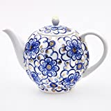 Imperial / Lomonosov Porcelain Teapot 'Bindweed' 650ml