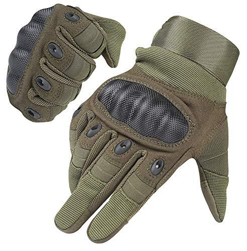 Handschuhe für Männer und Frauen Touch Screen Hart Knöchel Handschuhe für Outdoor Sport und Arbeit geeignet für Radfahren Motorrad Wandern Klettern Lumbering Heavy Industry (Army green, X-large)