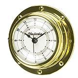 Orologio in ottone con rivetto, 10 cm