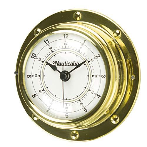 Reloj de latón Estilo Remache, 10 cm