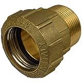 """Agora-Tec - Giunto in ottone 40 mm x 1 1/4"""" AG (41,9 mm) per tubo PE 40 mm"""