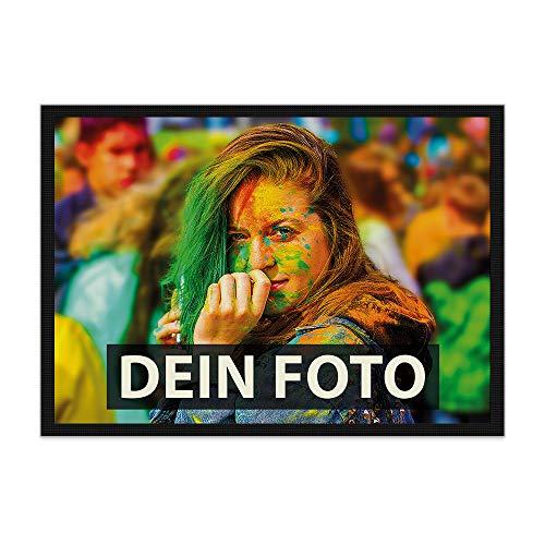 Fußmatte zum selbst Gestalten/mit eigenem Foto Bedrucken Lassen/Schmutzfangmatte/Fußabtreter / 75 x 50 cm mit Gummirand