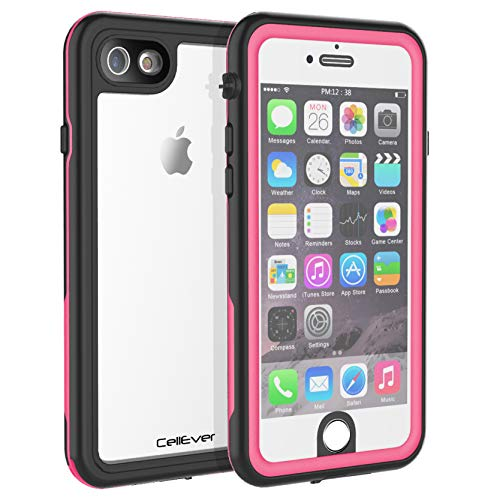 CellEver Compatible with iPhone 6 / 6s Waterproof Case Shockproof IP68 Certified SandProof Snowproof Full Body Protective Clear Transparent Cover Designed for iPhone 6 / 6s (4.7 Inch) KZ Pink