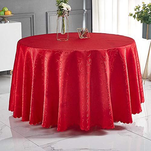 YuHengJin Rectangular Tablecloth Stain Proof Wear Resistant Durable and Breathable Folding Various Sizes Table Cloth Red C 380cm Circle Diameter