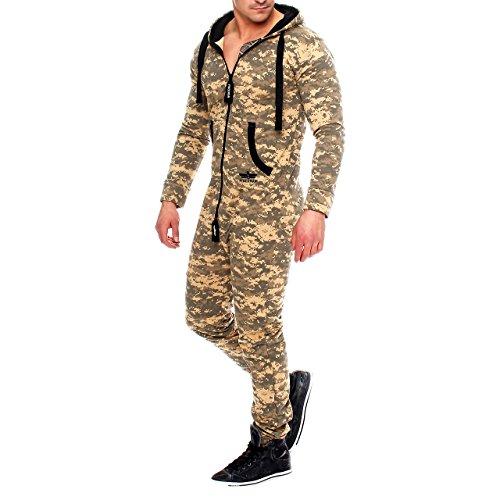 Finchman 85C4 Herren Camouflage Jumpsuit Jogger Jogging Anzug - 2