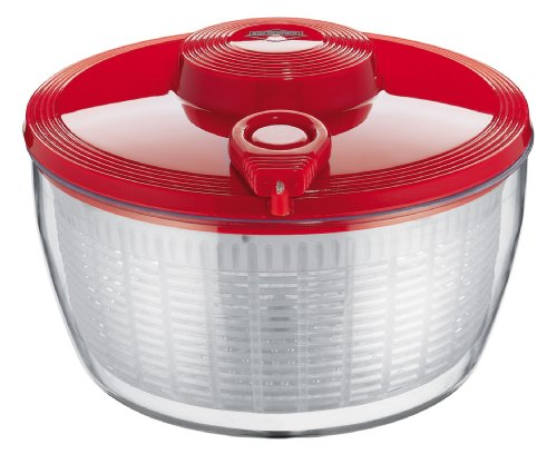 Küchenprofi Salatschleuder-1310171400 Salatschleuder, Edelstahl, Rot, One Size