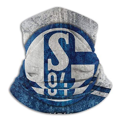 Fc Schalke 04 Logo 3D Druck Multifunktionstuch Damen & Herren Gesichtshaube HalswäRmer Winddicht Schlauchschal,Outdoor Motorrad Schal Leichtes Atmungsaktiv Face Shield Sonnenschutz Sturmhaube