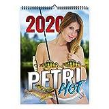Petri Hot Angelkalender 2020 Frauen A3 Erotik Wandkalender Geschenke für Angler mit Petri Hot Sticker Made in Germany