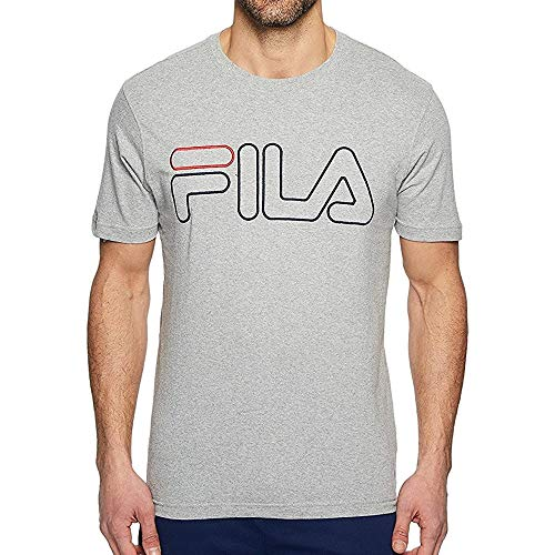 Fila Borough - Camiseta de manga corta para hombre, gris, medium