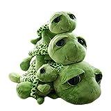 Haodou Peluche tortue verte aux grand yeux - pour enfants, Peluche, vert, 63 cm