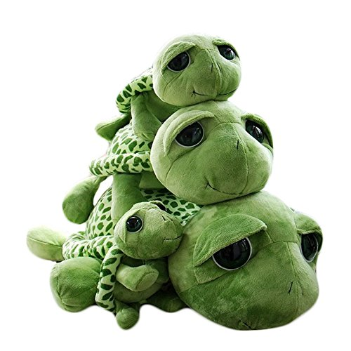 Haodou Plüsch Schildkröte Puppe Große Augen Die Schildkröte Plüsch Tiere Spielzeug Cute Puppe Plüschtiere für Kinder - Grün(7.87