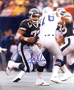 """Joe Klecko (New York Jets) Autographed/Original Signed 8x10 Action-photo - Klecko Was a Defensive Lineman and Part of the Famed""""New York Sack Exchange"""" of the 1970s/'80s -COA"""