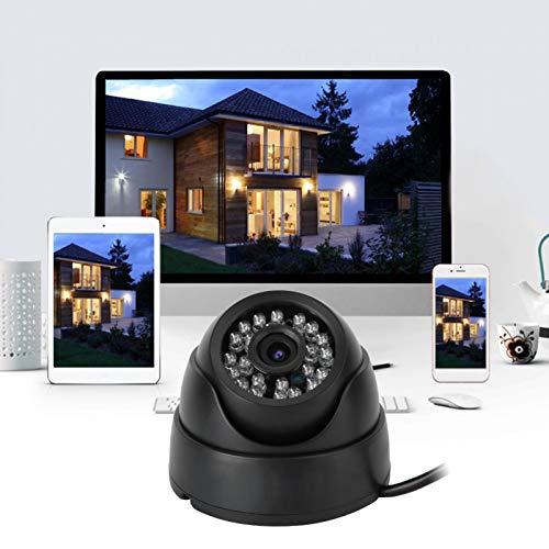 Cámara de vigilancia por infrarrojos, cámara de infrarrojos gran angular Dc12V, dispositivos móviles para ordenadores, control local y remoto, seguridad para el hogar(European regulations, Transl)