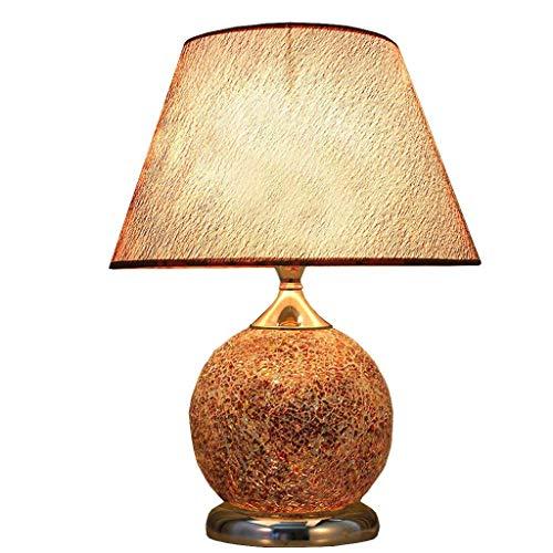 XUSHEN-HU Lámparas de Mesa, Personalidad Simple Dormitorio de la lámpara, lámpara de cabecera Caliente Dormitorio, Dormitorio Moderno Europeo jardín Decorativo Boda Lectura luz de la Noche Lámpara