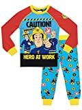 Fireman Sam Pijama para Niños Sam el Bombero Ajuste Ceñido Multicolor 3-4 Años